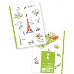 Carnet Paris vert