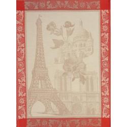 """Torchon Paris en fleur seigle """"Le Jacquard Français"""""""