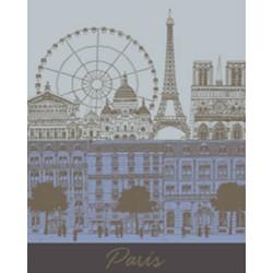 Torchon Paris Panorama Ciel