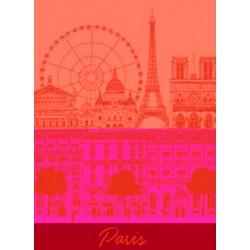 Torchon Paris Panorama Baiser
