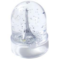 Boule à neige tour Eiffel argentée