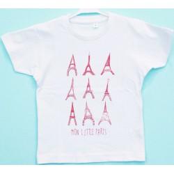 Tshirt 2 ans rouge mon little paris