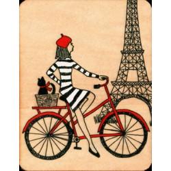 Carte en bois tour Eiffel