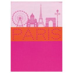 """Torchon Paris Lumière rose """"Le Jacquard Français"""""""