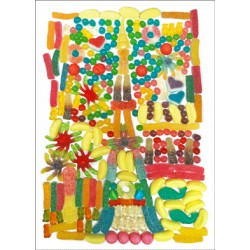Carte animée Tour Eiffel Bonbons