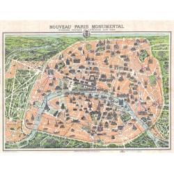 Puzzle Plan de Paris monumental